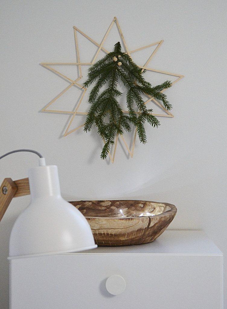 DIY joulutähti